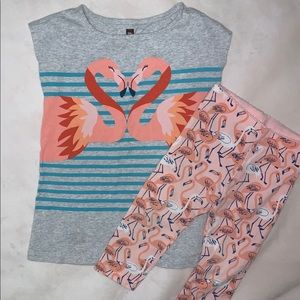 Tea Collection Flamingo Dress & Leggings